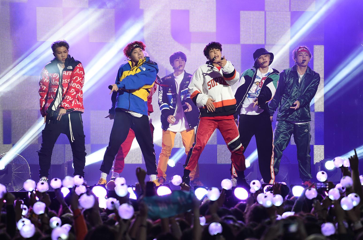 BTS, a K-Pop supergroup, performs on Jimmy Kimmel Live