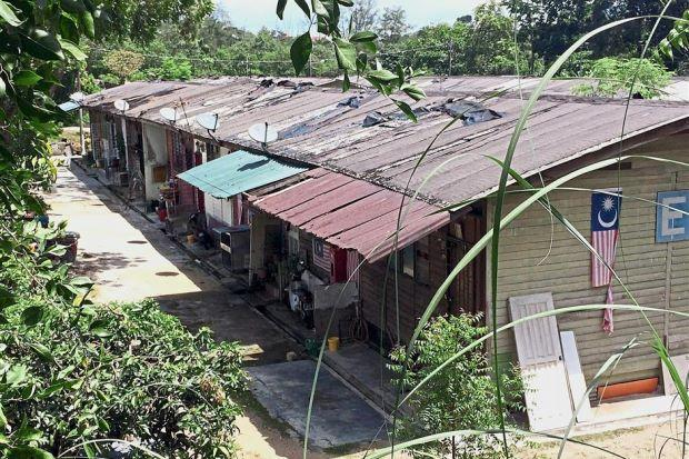 The current state of the longhouses | Picture: TheStarOnline